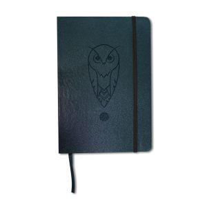 90 day Planner blue grey vegan cover